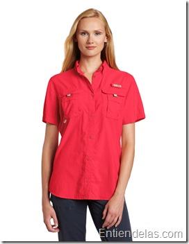 camisa-columbia-manga-corta-roja