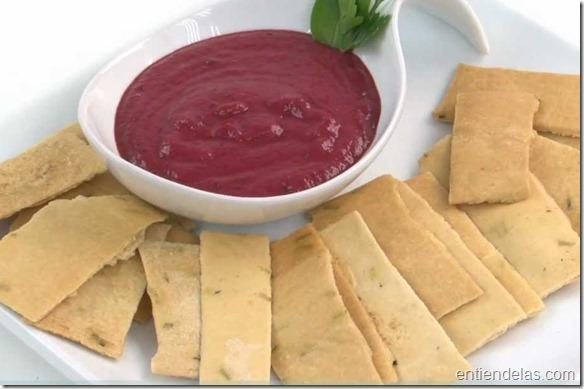 Prepara un simple y riquísimo dip de remolacha