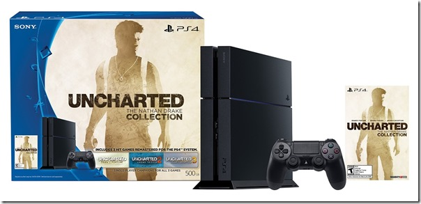 PlayStation 4 500GB Uncharted The Nathan Drake Collection Bundle